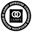 CAMFT Continuing Education Provider Black and White Stamp